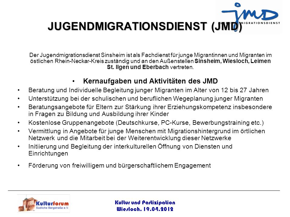 JUGENDMIGRATIONSDIENST (JMD)