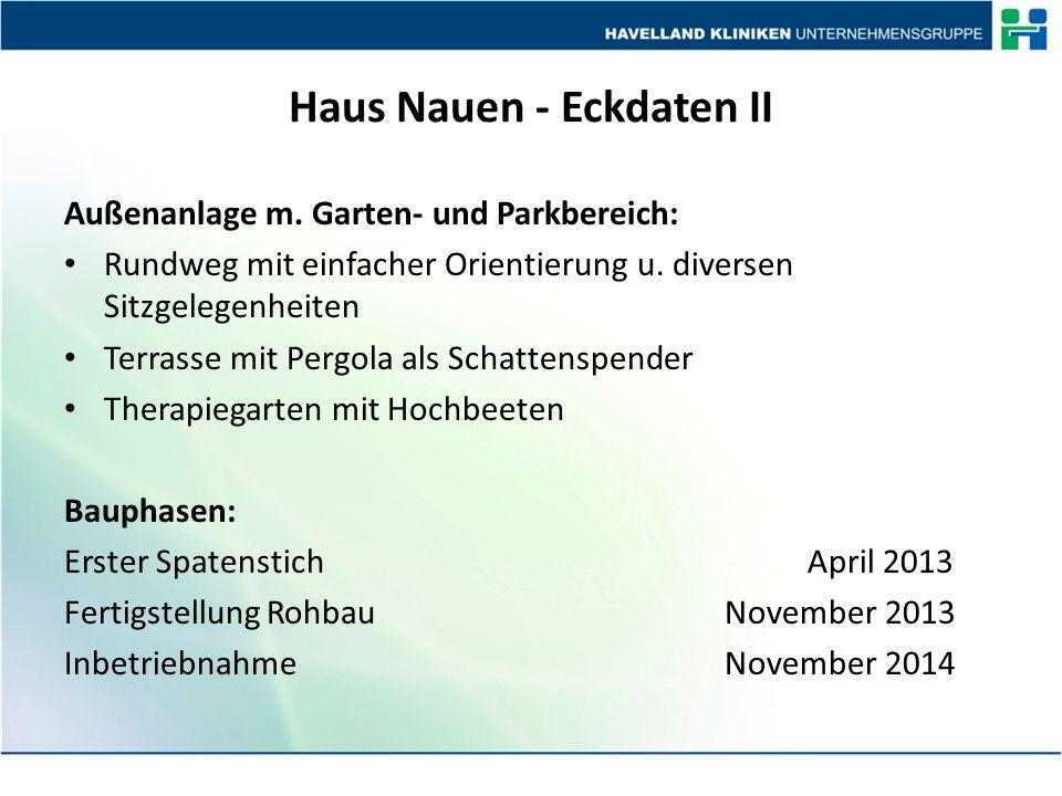 Haus Nauen - Eckdaten II