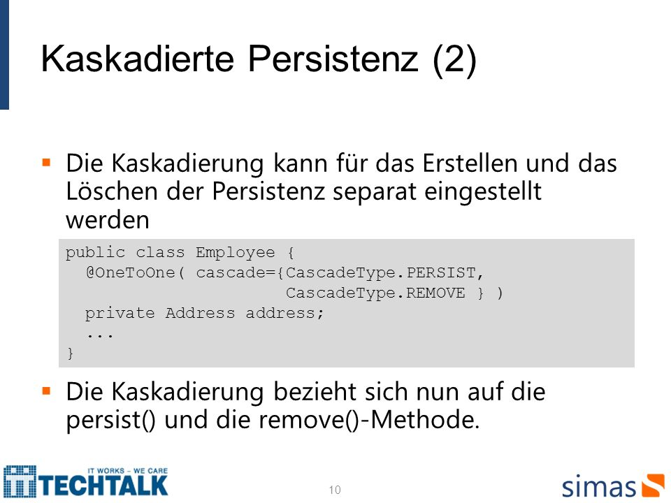 Kaskadierte Persistenz (2)