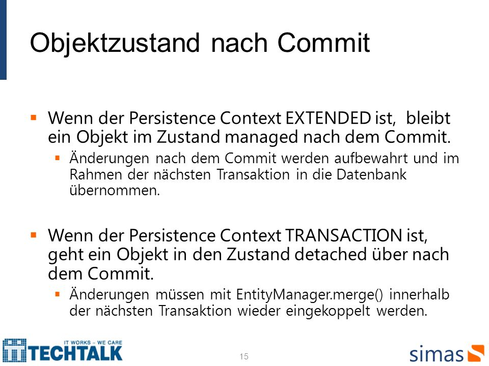Objektzustand nach Commit