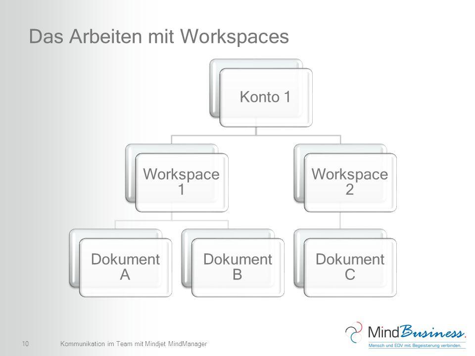 Das Arbeiten mit Workspaces