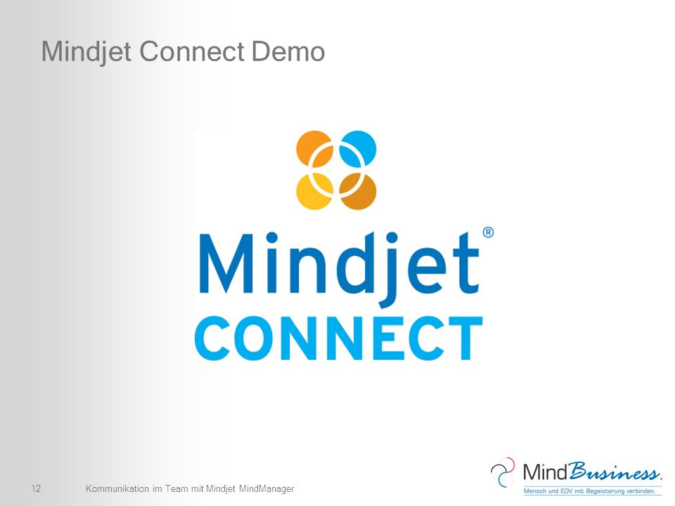 Mindjet Connect Demo Kommunikation im Team mit Mindjet MindManager