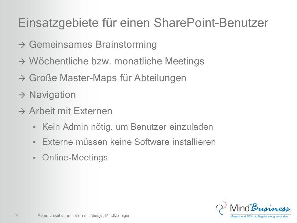 Einsatzgebiete für einen SharePoint-Benutzer