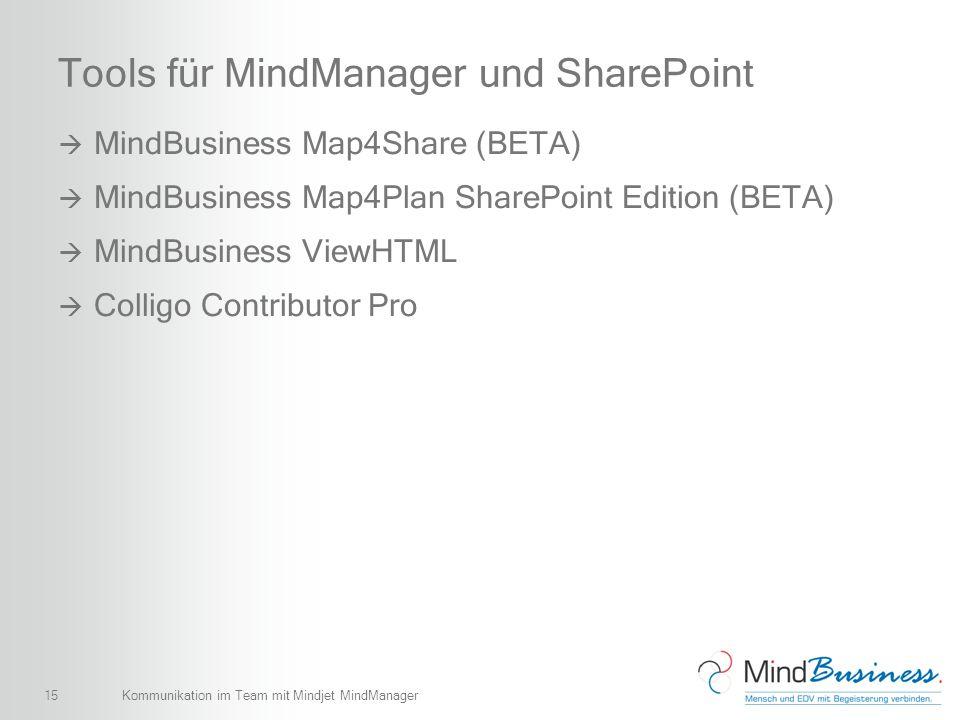 Tools für MindManager und SharePoint