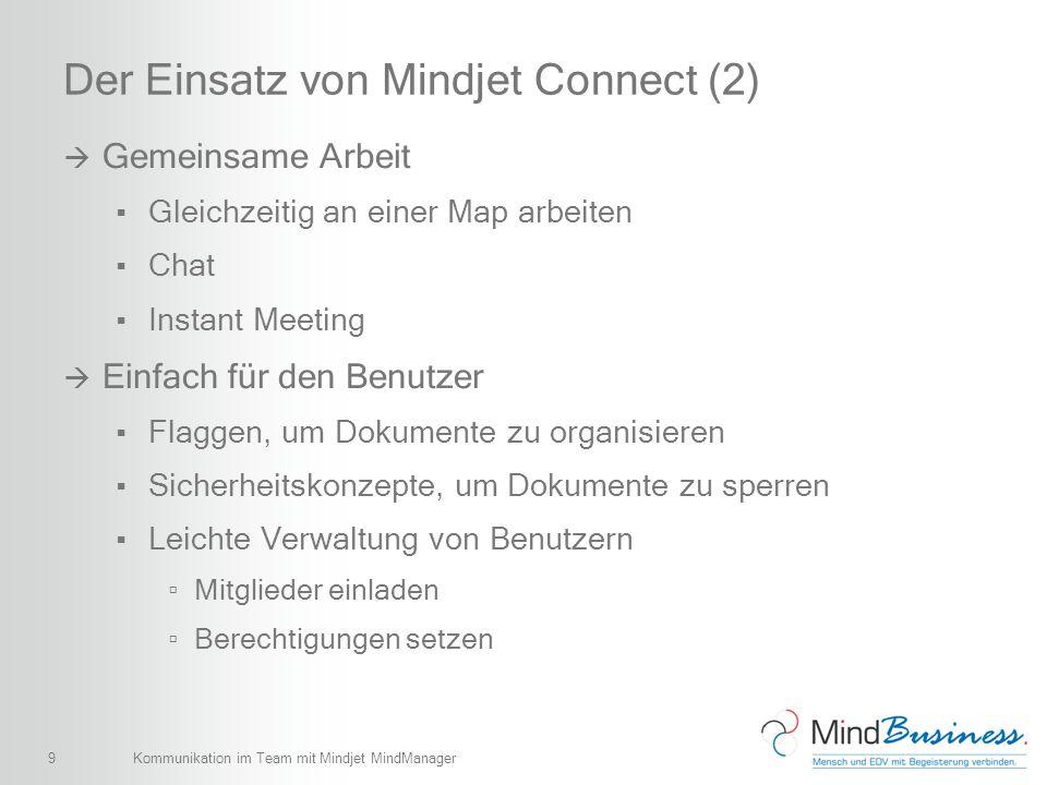 Der Einsatz von Mindjet Connect (2)