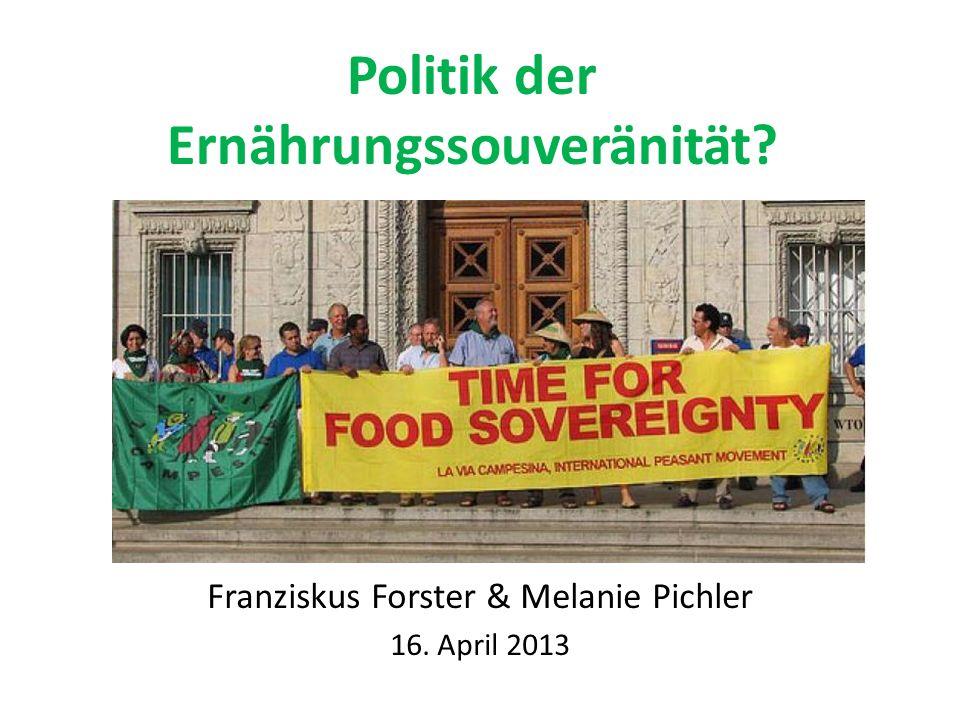 Politik der Ernährungssouveränität