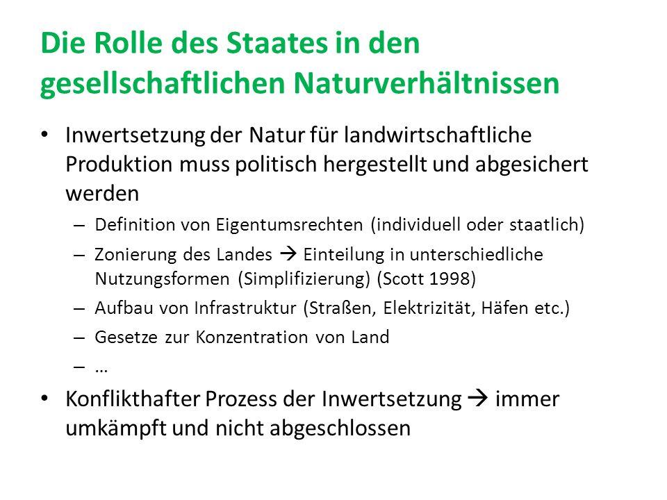 Die Rolle des Staates in den gesellschaftlichen Naturverhältnissen