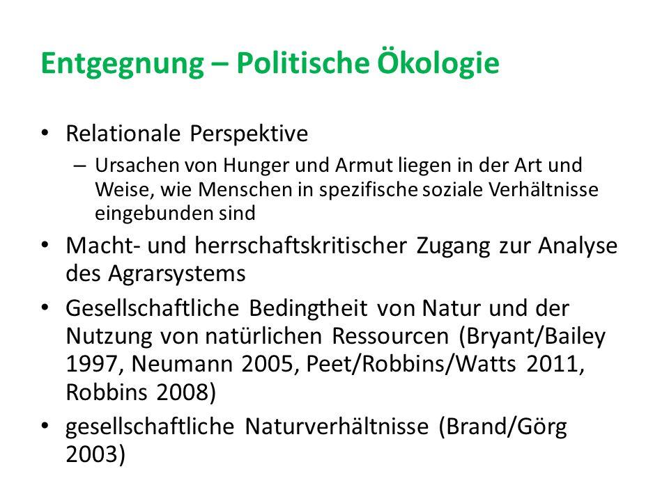Entgegnung – Politische Ökologie