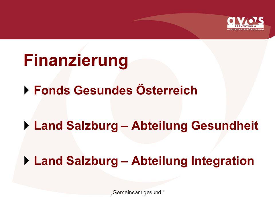 Finanzierung Fonds Gesundes Österreich