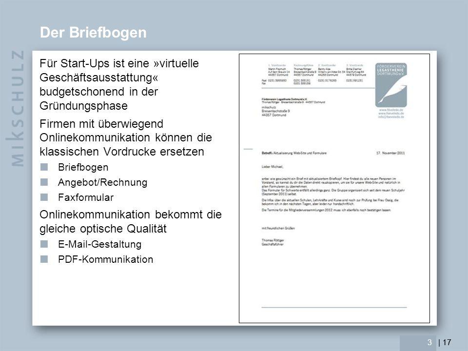 Der Briefbogen Für Start-Ups ist eine »virtuelle Geschäftsausstattung« budgetschonend in der Gründungsphase.