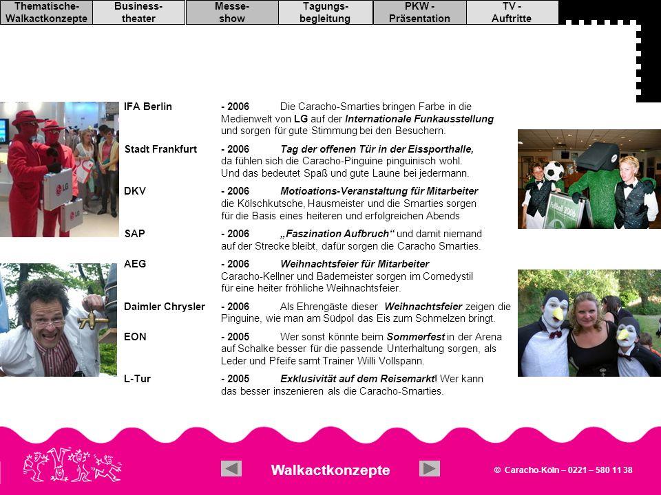 IFA Berlin - 2006 Die Caracho-Smarties bringen Farbe in die Medienwelt von LG auf der Internationale Funkausstellung und sorgen für gute Stimmung bei den Besuchern.