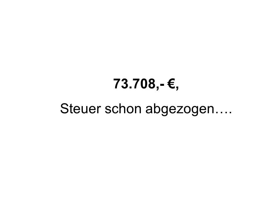 Steuer schon abgezogen….