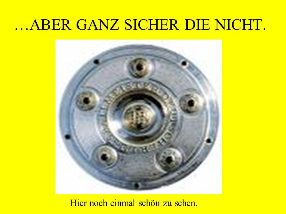 …ABER GANZ SICHER DIE NICHT.