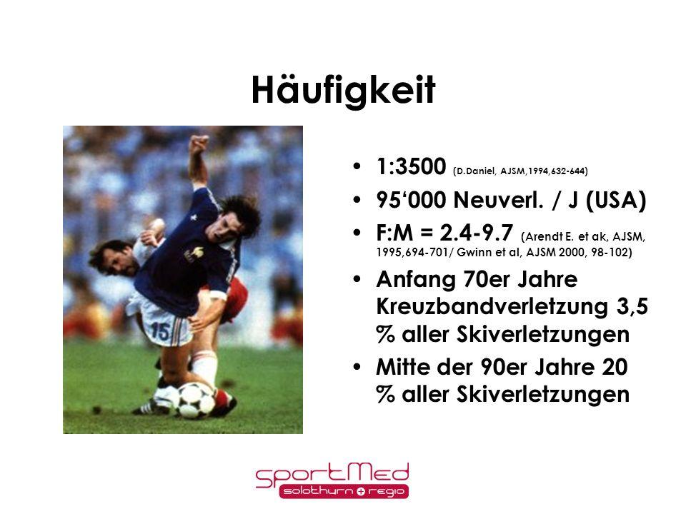 Häufigkeit 1:3500 (D.Daniel, AJSM,1994,632-644)