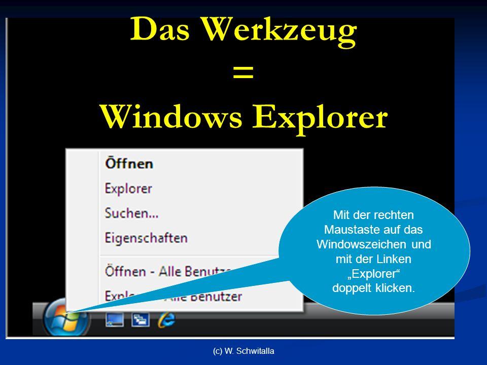 Das Werkzeug = Windows Explorer