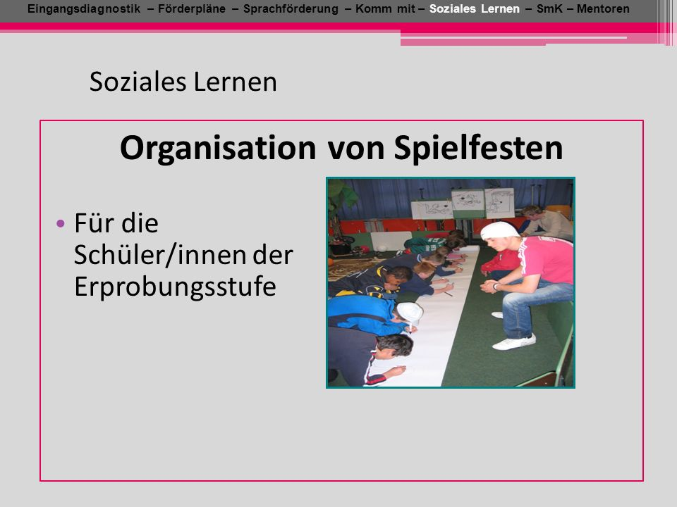 Organisation von Spielfesten