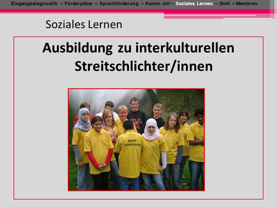 Ausbildung zu interkulturellen Streitschlichter/innen