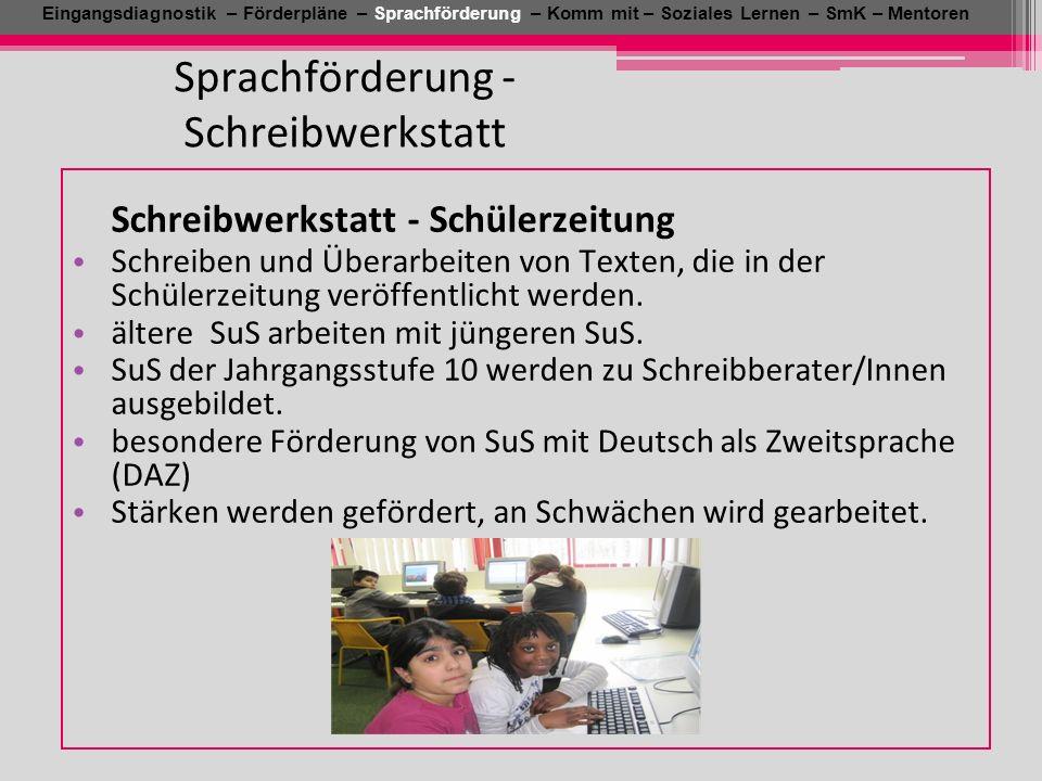 Sprachförderung - Schreibwerkstatt