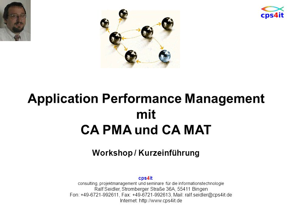 Application Performance Management mit CA PMA und CA MAT
