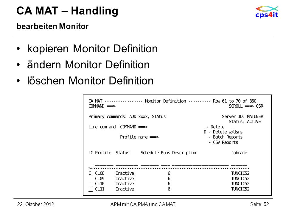 kopieren Monitor Definition ändern Monitor Definition