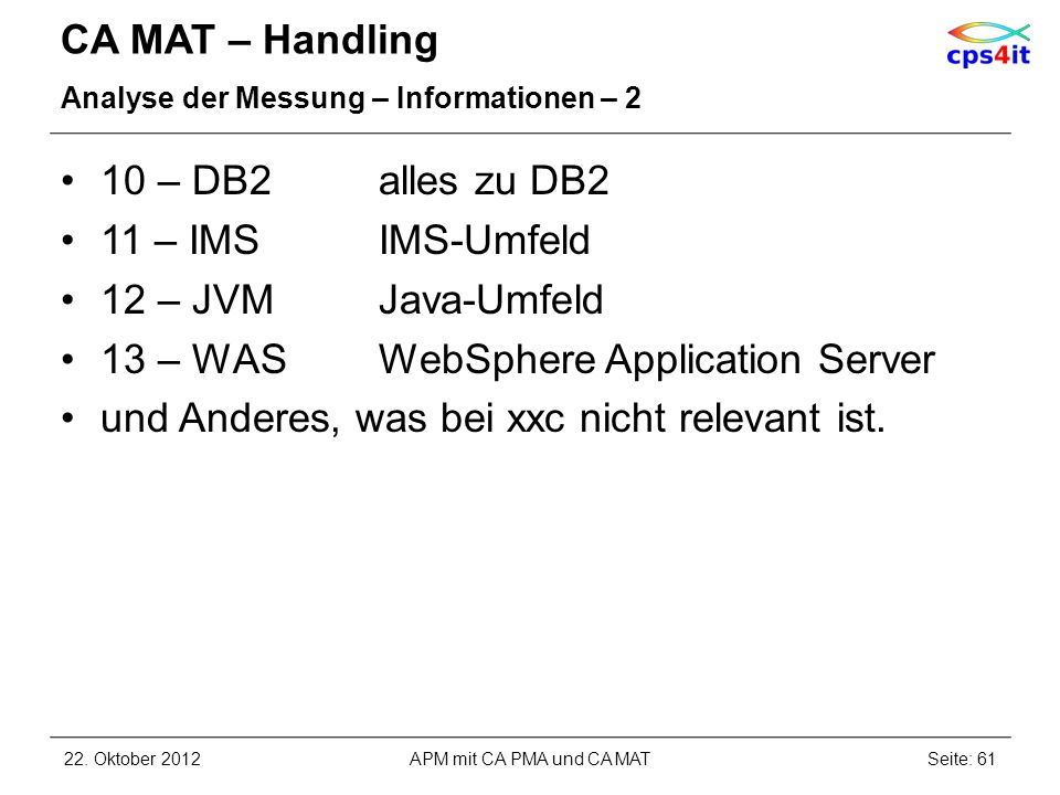 13 – WAS WebSphere Application Server