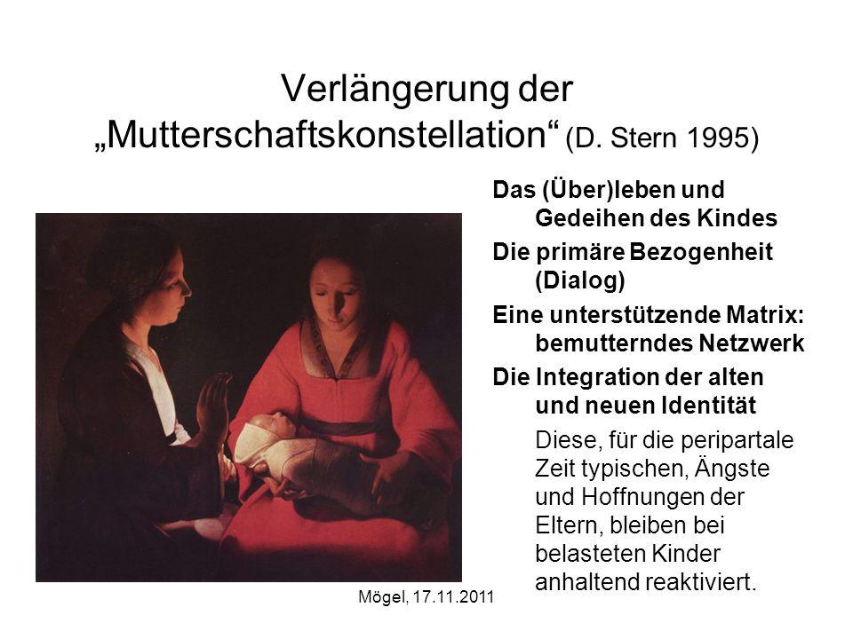 """Verlängerung der """"Mutterschaftskonstellation (D. Stern 1995)"""