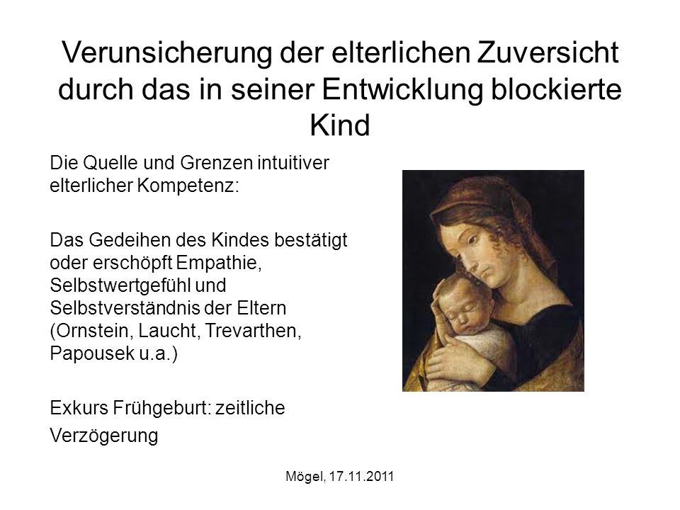 Verunsicherung der elterlichen Zuversicht durch das in seiner Entwicklung blockierte Kind