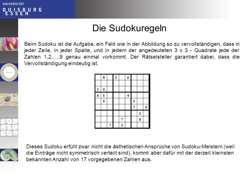 Die Sudokuregeln