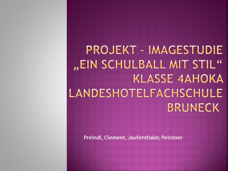 Preindl, Clement, Jaufenthaler, Peintner