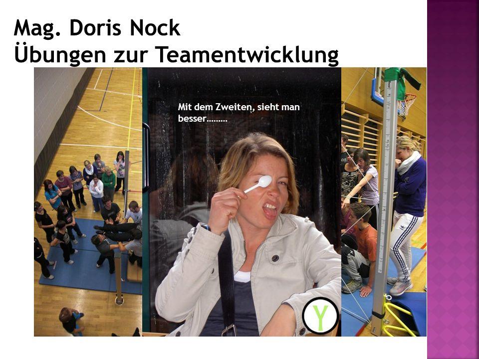 Mag. Doris Nock Übungen zur Teamentwicklung