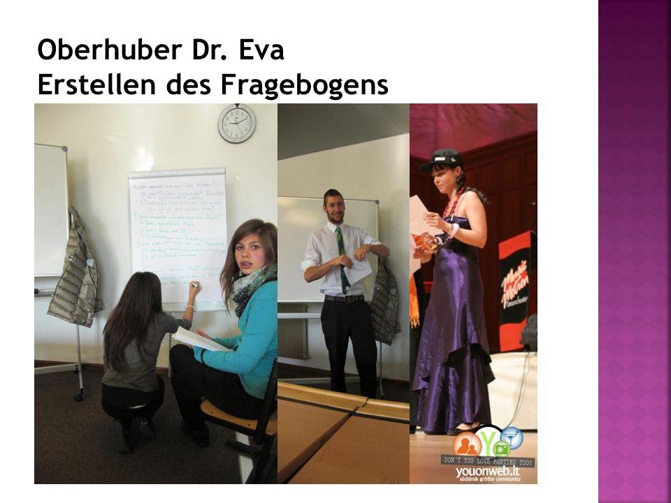 Oberhuber Dr. Eva Erstellen des Fragebogens