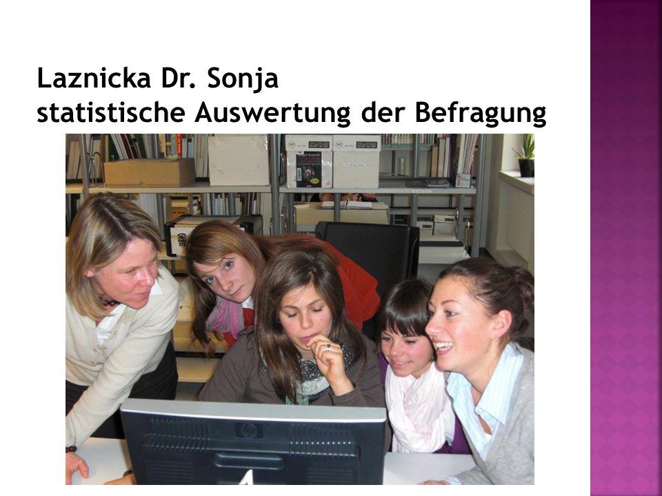 Laznicka Dr. Sonja statistische Auswertung der Befragung
