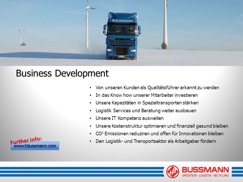 Business Development Further info:
