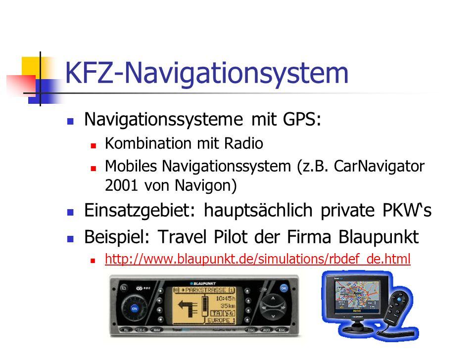 KFZ-Navigationsystem