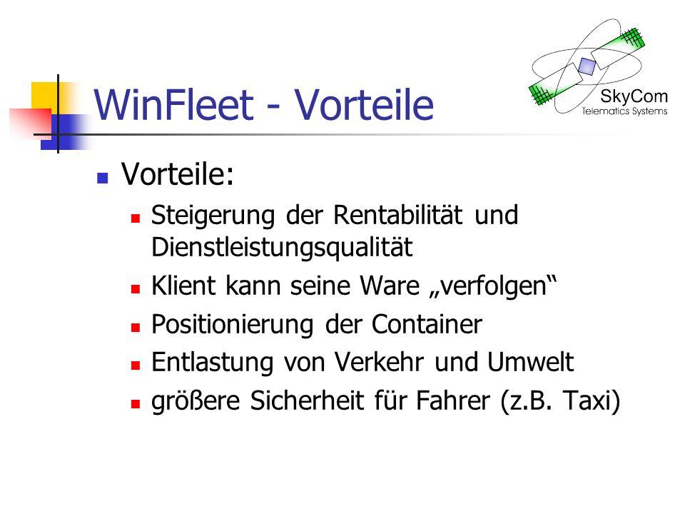 WinFleet - Vorteile Vorteile: