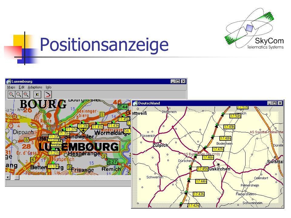 Positionsanzeige Rasterkarte und Vektorkarte