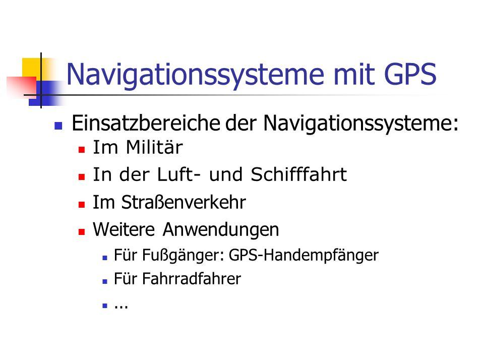 Navigationssysteme mit GPS
