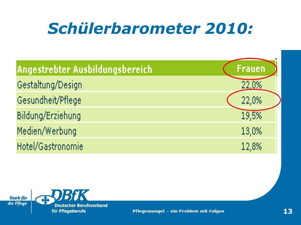 Schülerbarometer 2010: Pflegemangel – ein Problem mit Folgen 13