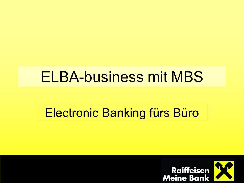 Electronic Banking fürs Büro