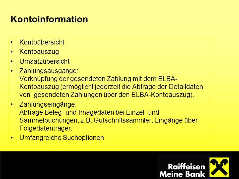 Kontoinformation Kontoübersicht Kontoauszug Umsatzübersicht