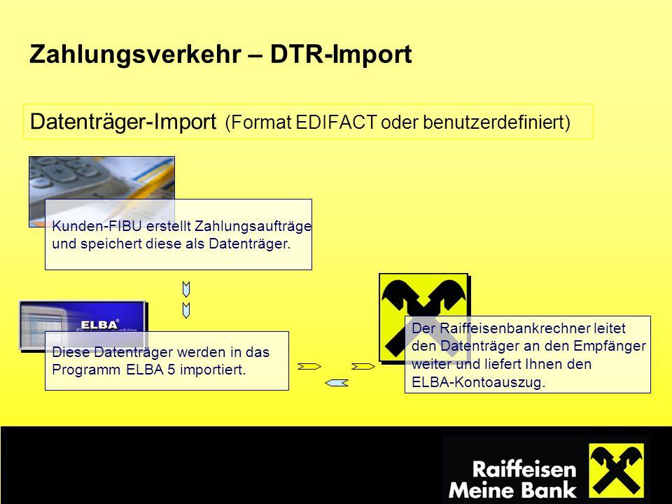 Zahlungsverkehr – DTR-Import