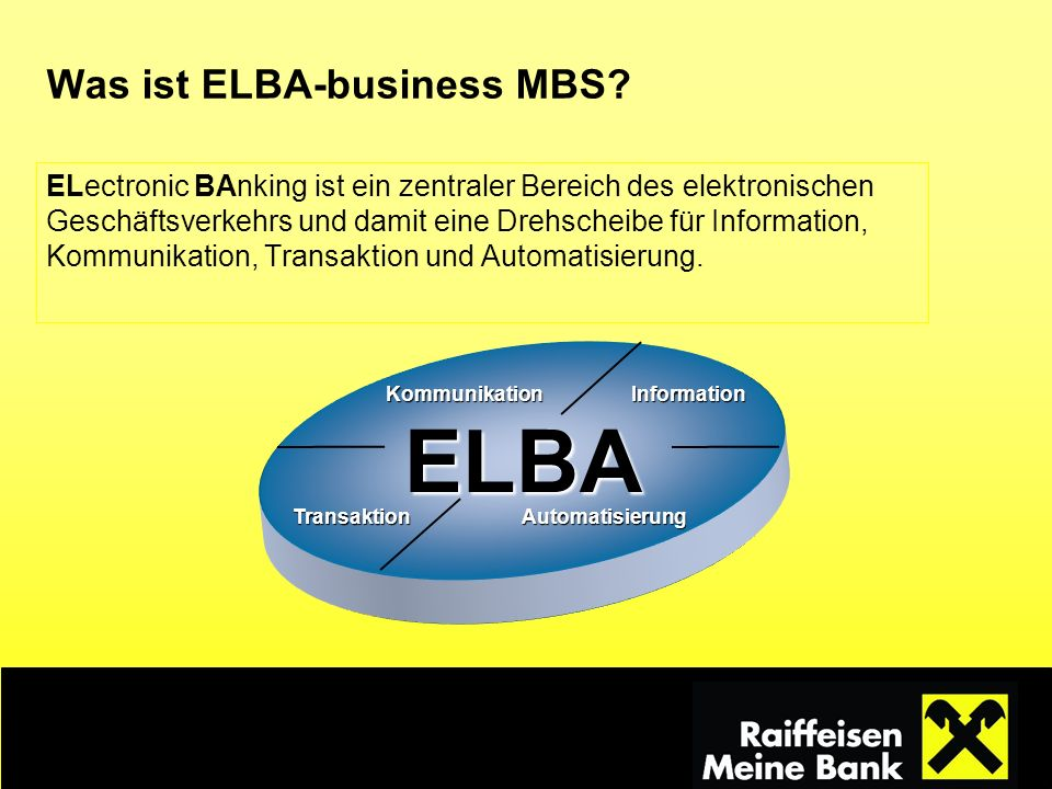 Was ist ELBA-business MBS