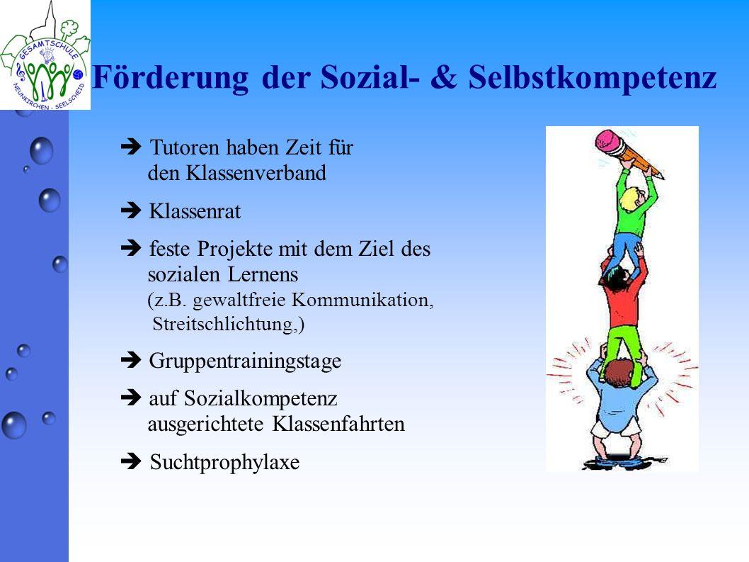 Förderung der Sozial- & Selbstkompetenz