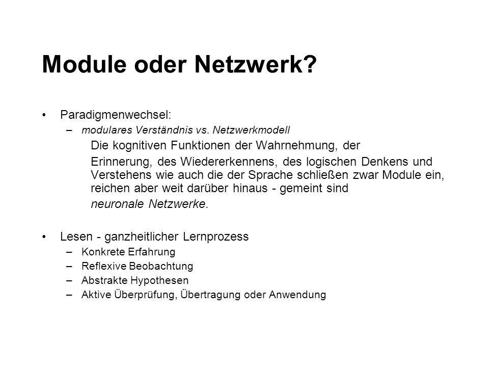 Module oder Netzwerk Paradigmenwechsel: