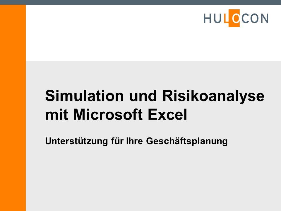 Simulation und Risikoanalyse mit Microsoft Excel