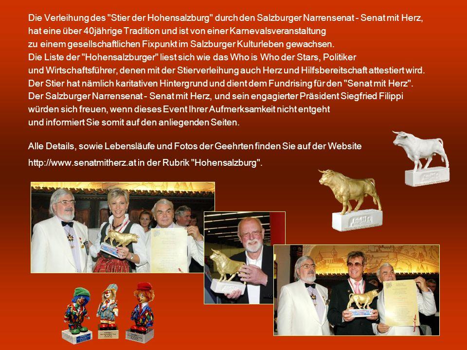 Die Verleihung des Stier der Hohensalzburg durch den Salzburger Narrensenat - Senat mit Herz,