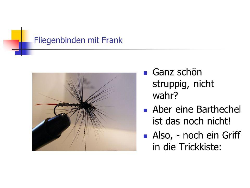 Fliegenbinden mit Frank