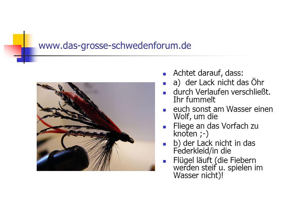 www.das-grosse-schwedenforum.de Achtet darauf, dass: