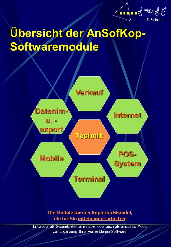Übersicht der AnSofKop-Softwaremodule