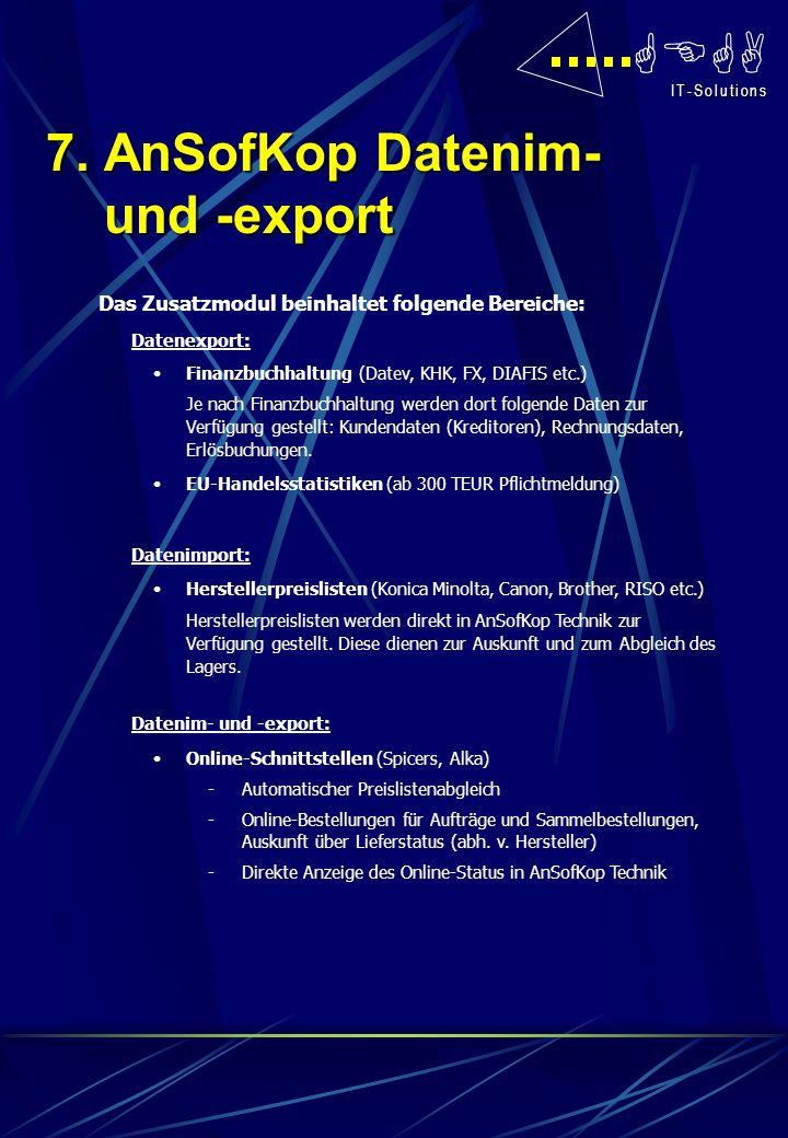 7. AnSofKop Datenim- und -export